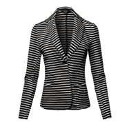 Atezch Women Dress,Fashion Retro Vertical Stripe Tie Waist Roll Up Long Sleeve Long Shirt Dress