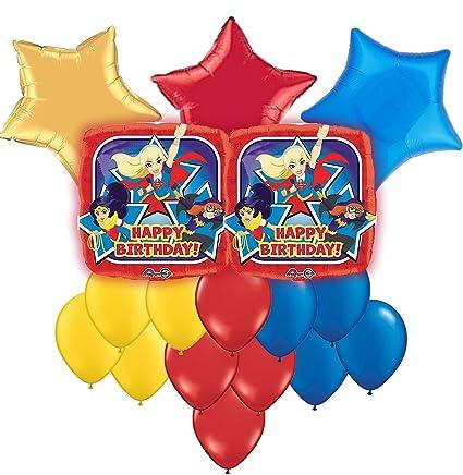 Amazon DC Superhero Girls Happy Birthday Balloon Bouquet 17pc