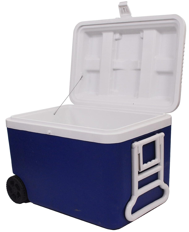 Epicurean Europe 61 x 40 x 45 cm 50 Litre Polypropylene Cool Box on Wheels,  Blue/ White: Amazon.co.uk: Kitchen & Home