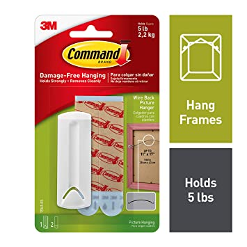 Amazoncom Command Wire Back Picture Hanger White 1 Hanger 17041