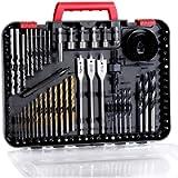 Avid Power Drill Bit Set, Drill Bits for Metal, Wood, Masonry-100Pcs Titanium, High Speed Steel Drill Bit Screwdriver…