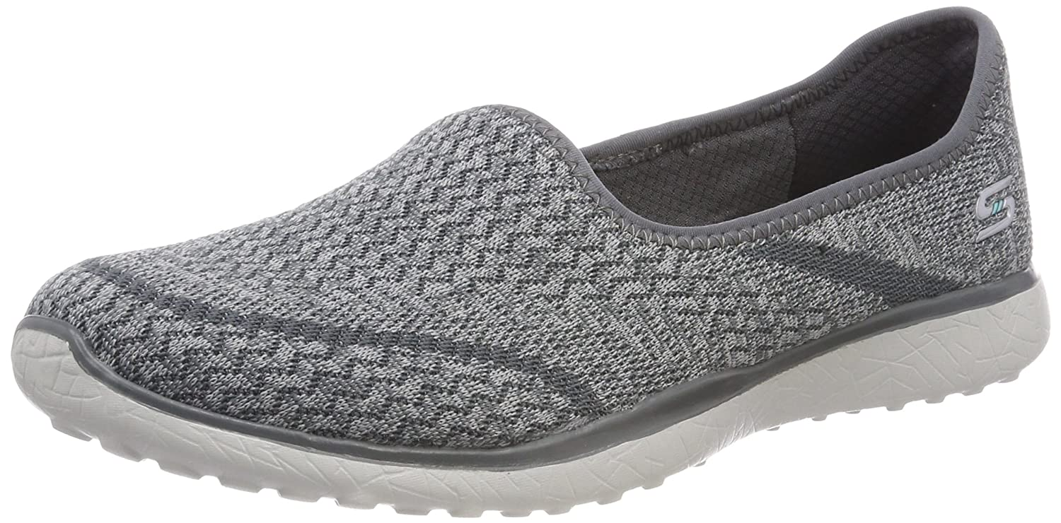Skechers Microburst All Mine Womens Slip on Sneakers B01EOQYKK6 9 B(M) US|Gray