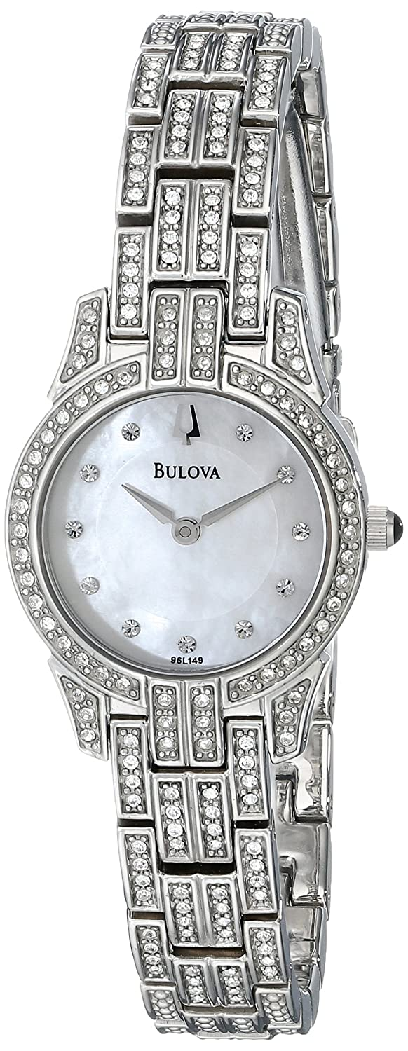 CDM product Bulova Women's Crystal Round Watch Mother-Of-Pearl 96L149 big image