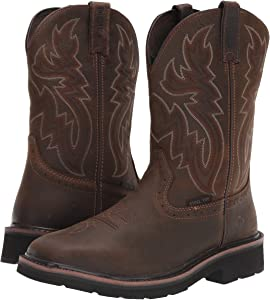 Square Steel Toe Work Boot