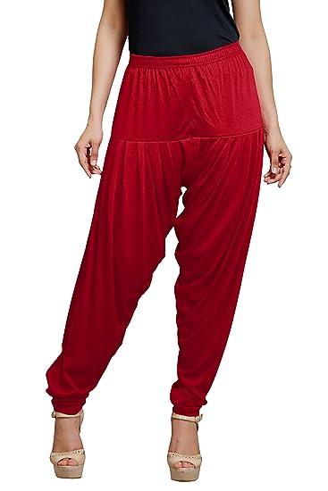 Goodtry Women's patiyala Free Size-dark red Bottom Wear at amazon