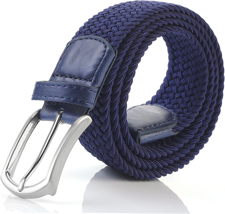 Weifert Mens Stretch Woven 1.3Wide Elastic Braided Belts