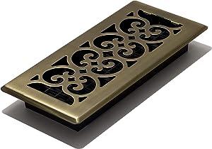 Decor Grates SPH410-A Floor Register, 4x10, Antique Brass
