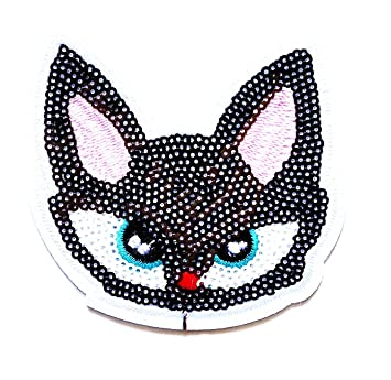 Amazon.com: Nipitshop Patches Cat Ghost Big eyes Sequin Cartoon kid for Clothes Backpacks T-shirt Jeans Skirt vests scarf Hat Bag: Arts, Crafts & Sewing