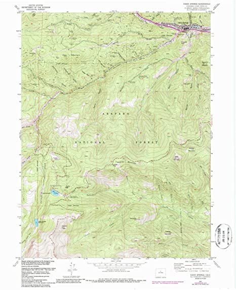 Topographic Map Colorado Springs.Amazon Com Yellowmaps Idaho Springs Co Topo Map 1 24000 Scale 7 5