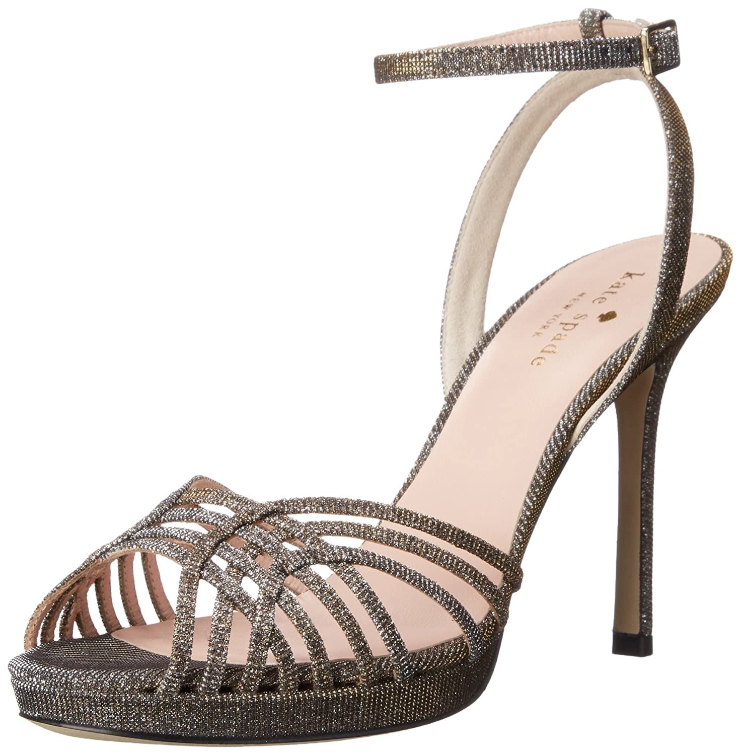 dca9ff30d9ce kate spade new york Women s Farryn Bronze Lurex Wedge  Buy Online at Low  Prices in India - Amazon.in