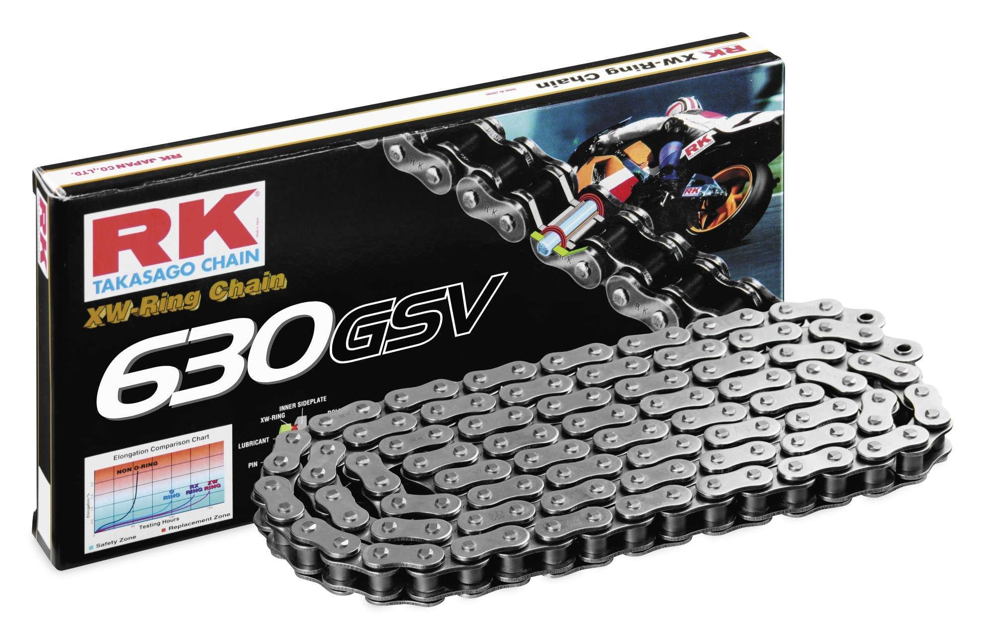 RK Racing Chain 630GSV-110 '110-Links' Ultra High-Performance XW-Ring Sport Bike Motorcycle Chain