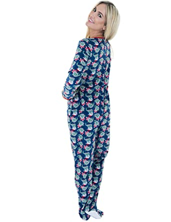 Amazon.com: Rene Rofe Juniors Plush Onesie Footie Pajamas: Clothing