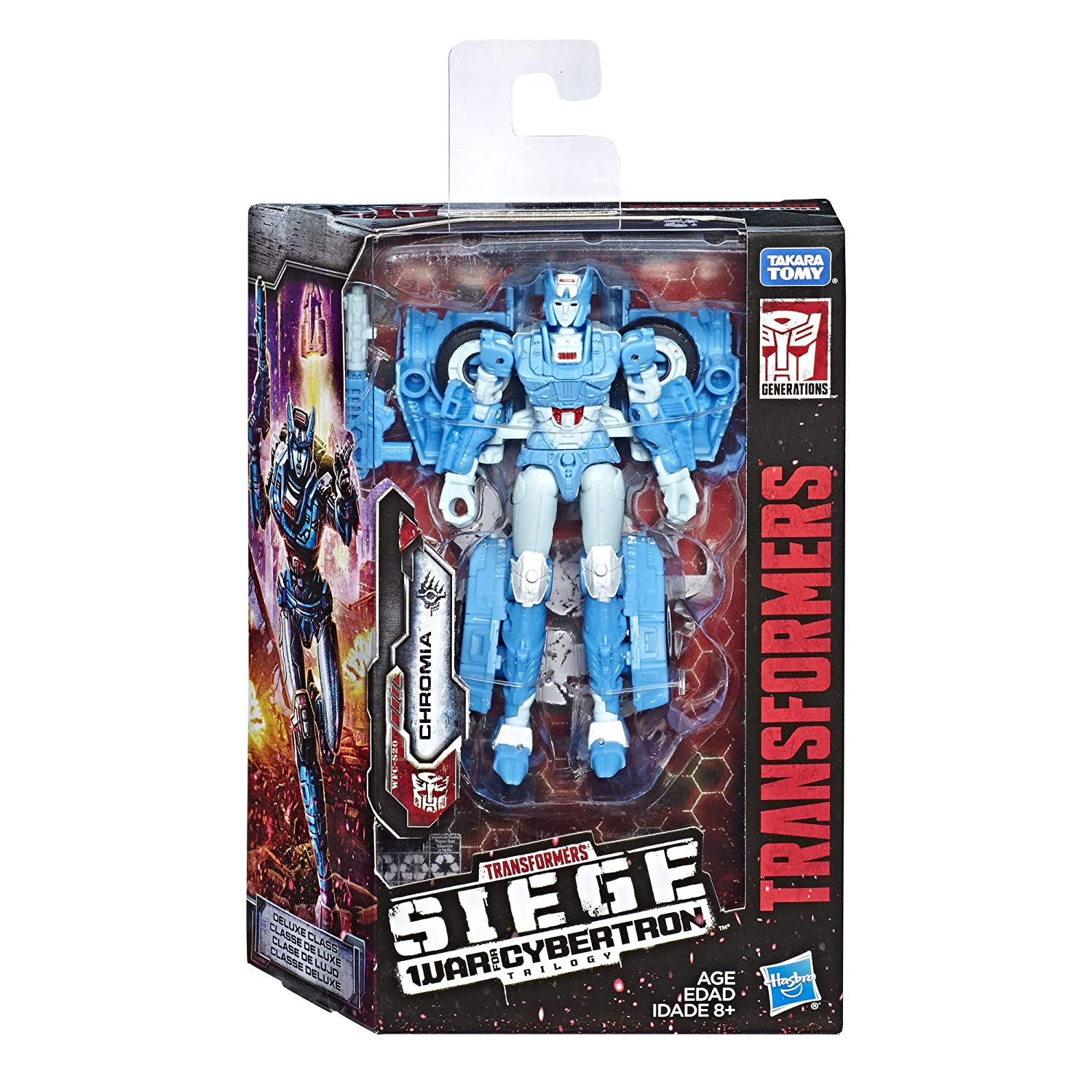 Adults /& Kids Ages 8 /& Up Siege Chapter Transformers Toys Generations War for Cybertron Deluxe Wfc-S20 Chromia Action Figure 5