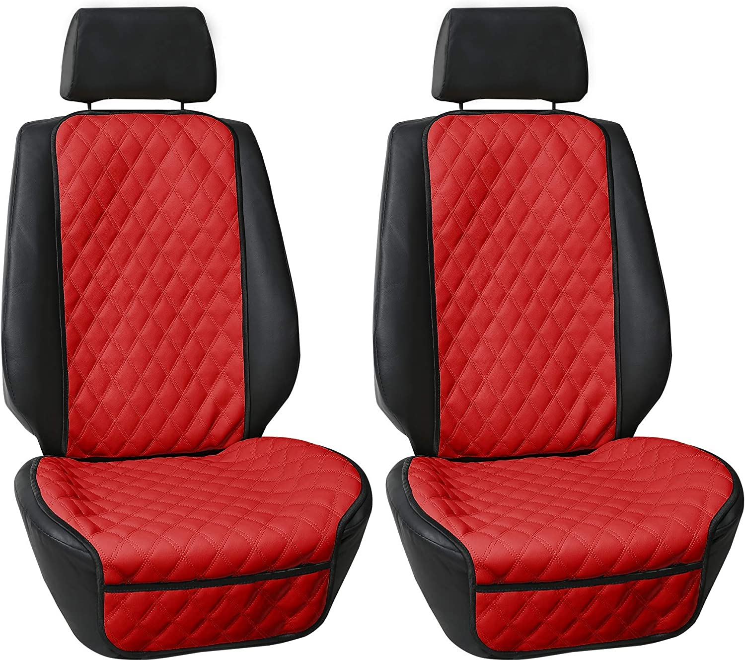Font Set with Gift Universal Fit for Cars Black FH Group FH1018 Faux Leather Seat Protectors Trucks /& SUVs