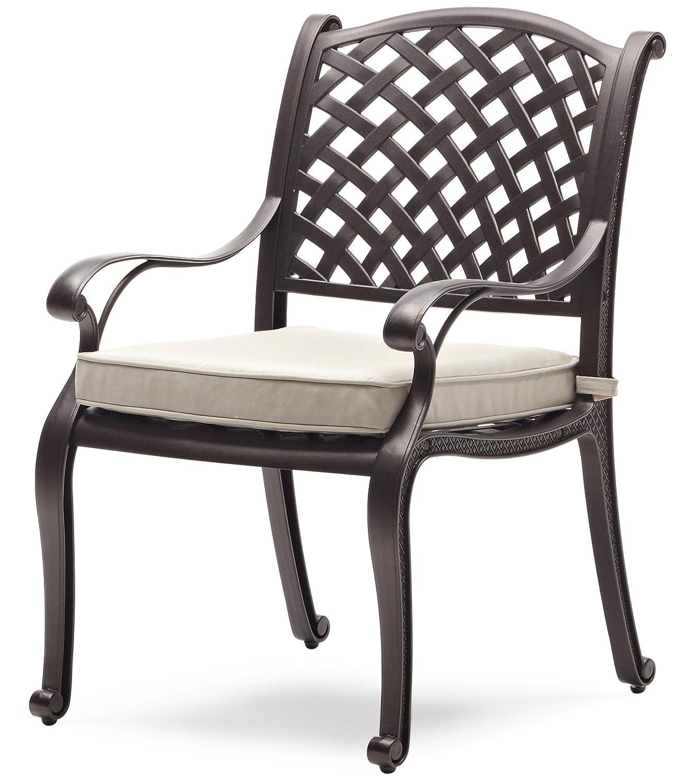 Amazon Strathwood Bainbridge Cast Aluminum Dining Chair with