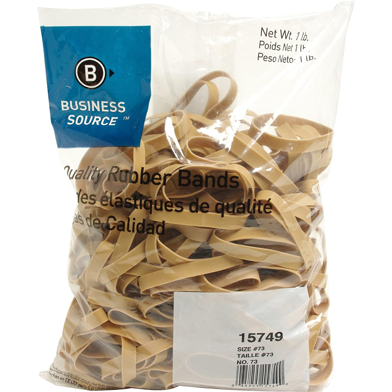 15749 Business Source Size 73 Rubber Bands