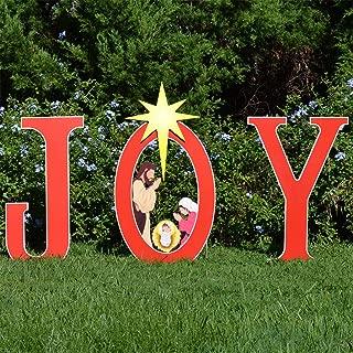 product image for Teak Isle Joy Nativity Printed Yard Sign