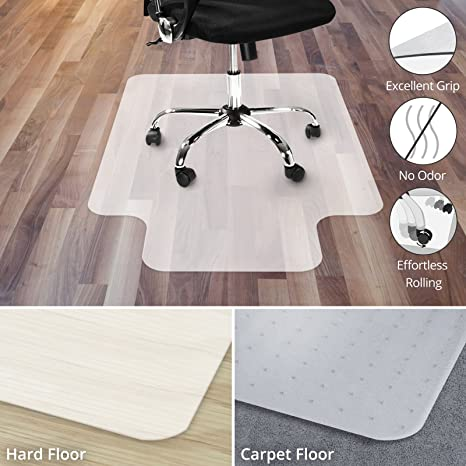 amazon com office marshal polypropylene chair mat with lip for