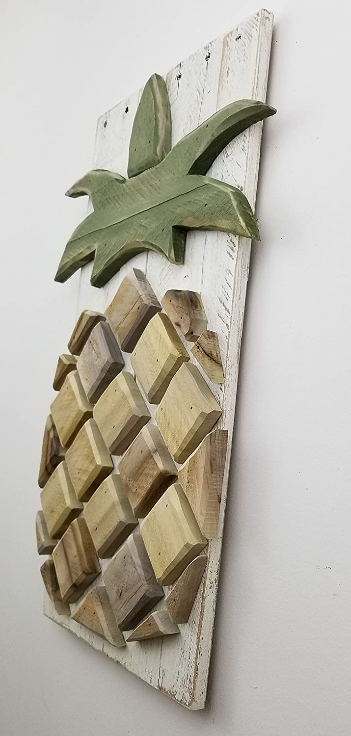 Pineapple Layered Wood Pineapple, Pineapple Art, Hawaii Art, Tropical Pineapple Picture, Nautical Beach Art, Beach Picture, Hawaii Picture, Beach Decor