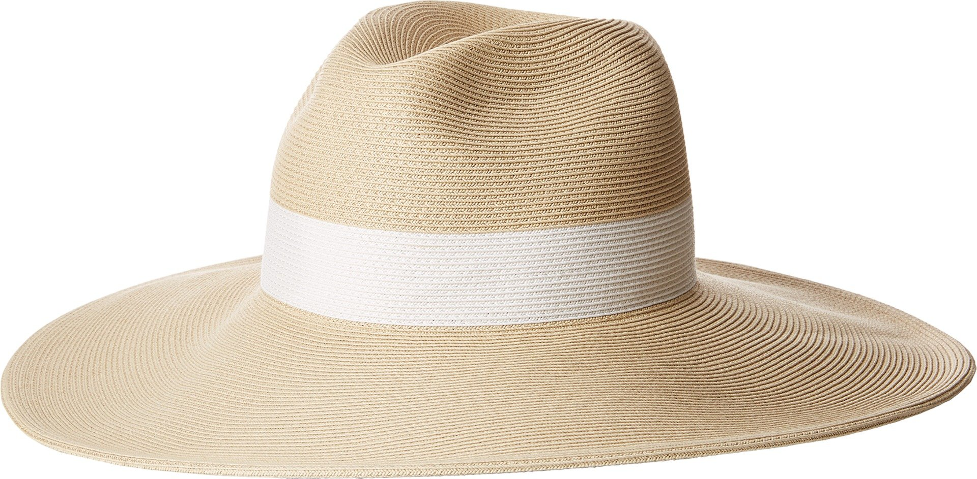 Hat Attack Women's Fine Braid Inset Continental Natural/White One Size