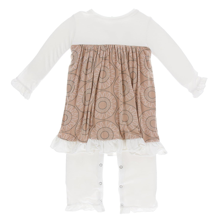 Kickee Pants Little Girls Print Long Sleeve Dress Romper PRD-KPDR486F17D3