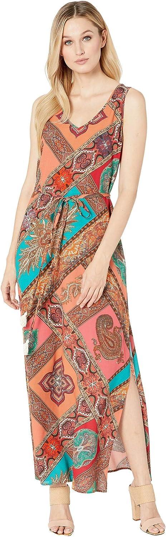 Karen Kane Womens Side-Slit Maxi Dress