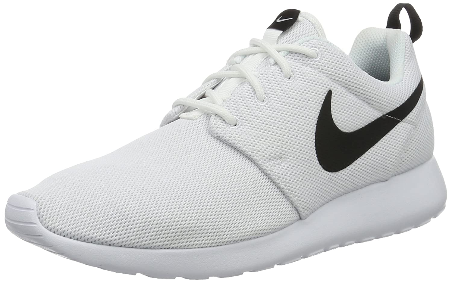 NIKE Women's Roshe One Running Shoe B002UJW0WK 8 B(M) US|White/White/Black