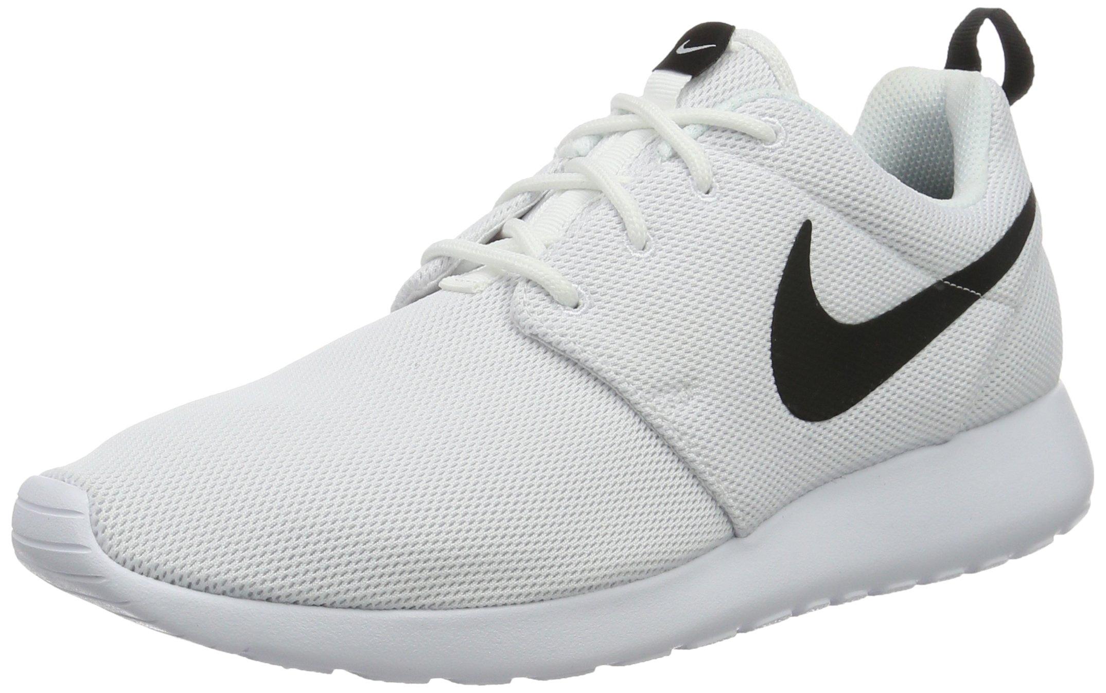 Nike Womens Roshe One Running Shoes (5 B(M) US)(White/White/Black)