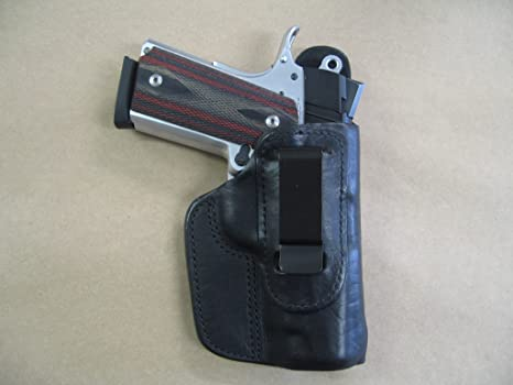 Springfield EMP 1911 IWB Leather In The Waistband Concealed Carry Holster  Black RH