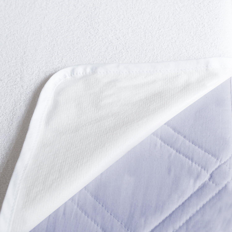 Durshani Prot/ège-Matelas Plat /À /Élastiques Blanc 90 X 200 cm by