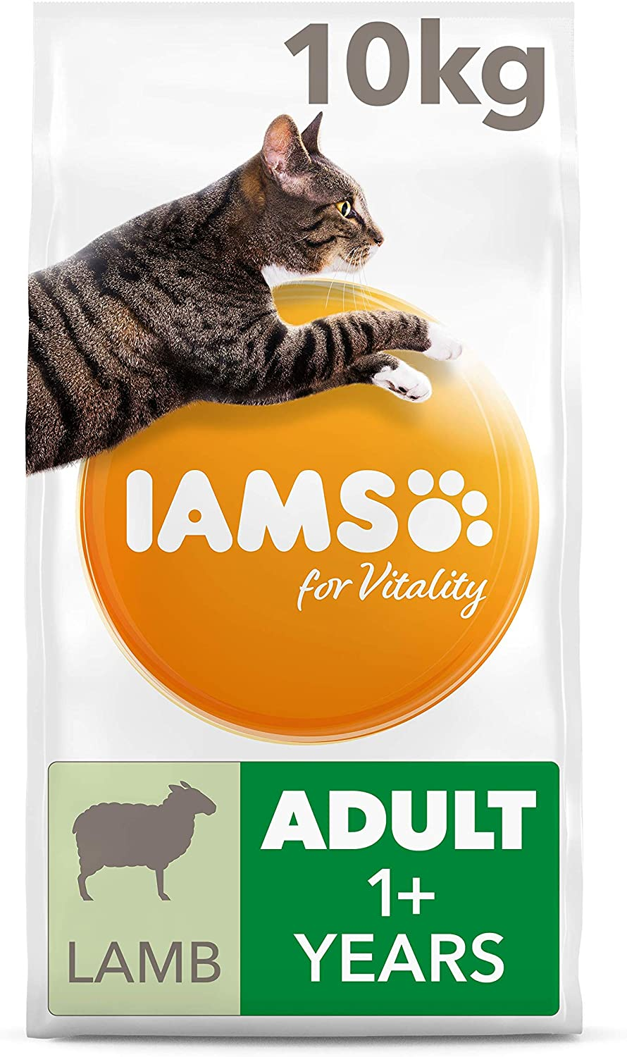 Iams For Vitality Adult Dry Cat Food With Lamb 10 Kg Amazon Co Uk Pet Supplies