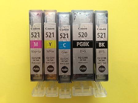 Canon Original Cli 521 Tintenpatronen Multipack Cyan Magenta Gelb Cli 521bk Pgi 520bk Bürobedarf Schreibwaren