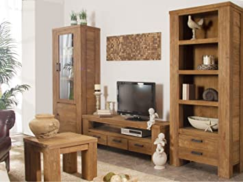 Wohnwand holz dunkel  Wohnwand Mit Holz. Finest Wohnwand Holz Modern Ebenfalls Grn Modell ...