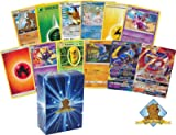 50 Pokemon Card Lot with Energy, Rares, Featuring 1 Legendary GX Cards No Duplication! Includes Golden Groundhog