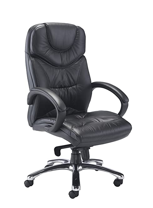 Office Hippo Executive Office Chair - Premium Grade Black Leather