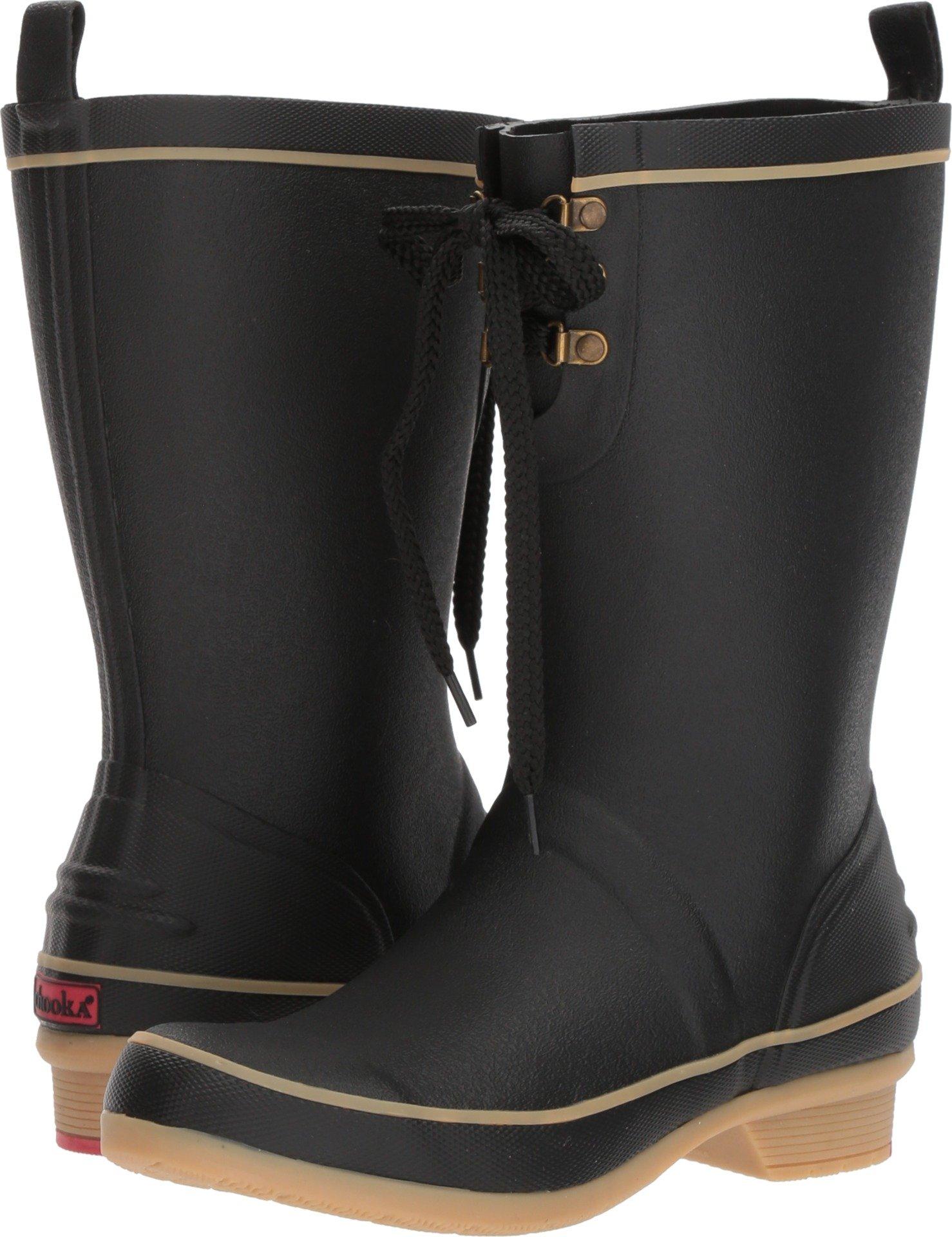 Chooka Women's Whidbey Rain Boots Black 8 M US
