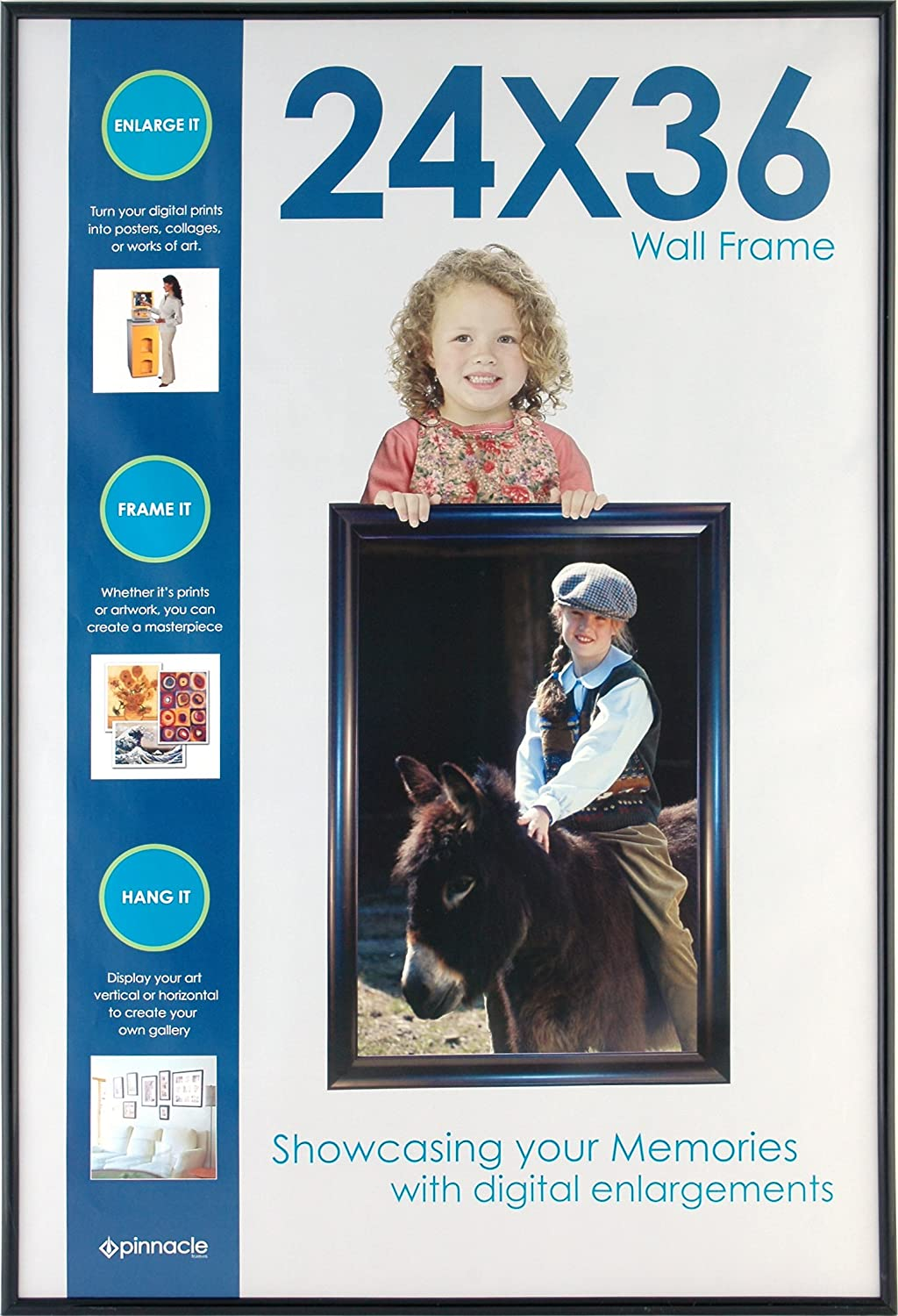Snap 08FP233 Gallery Solutions Black Backloader Poster Frame, 16 by 20-Inch NBG Home
