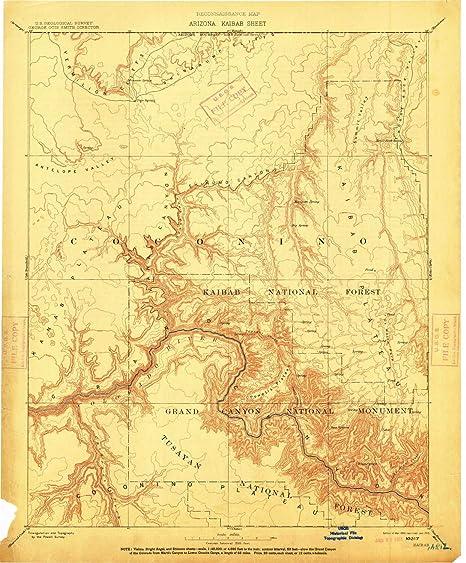Az Topographic Map.Amazon Com Yellowmaps Kaibab Az Topo Map 1 250000 Scale 1 X 1