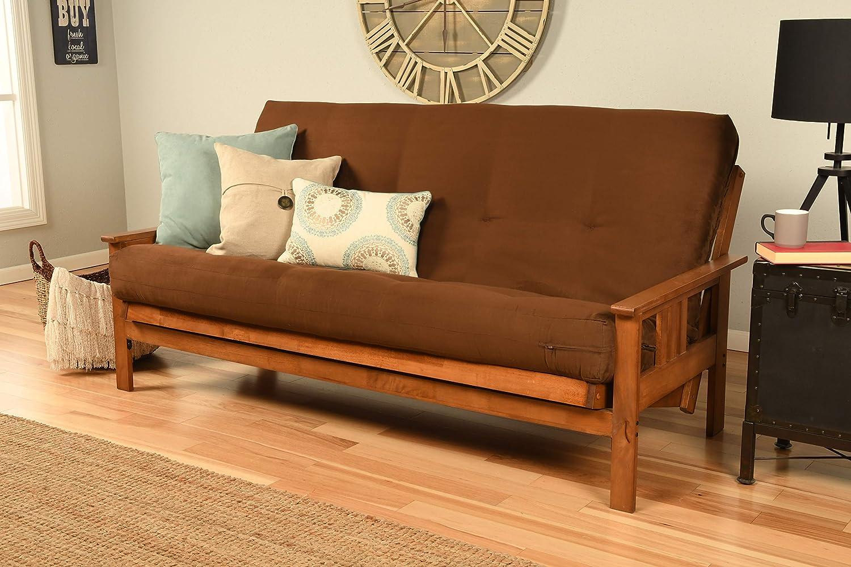 Kodiak Furniture Monterey Futon Set, No Drawers, with Barbados Base and Suede Chocolate Mattress