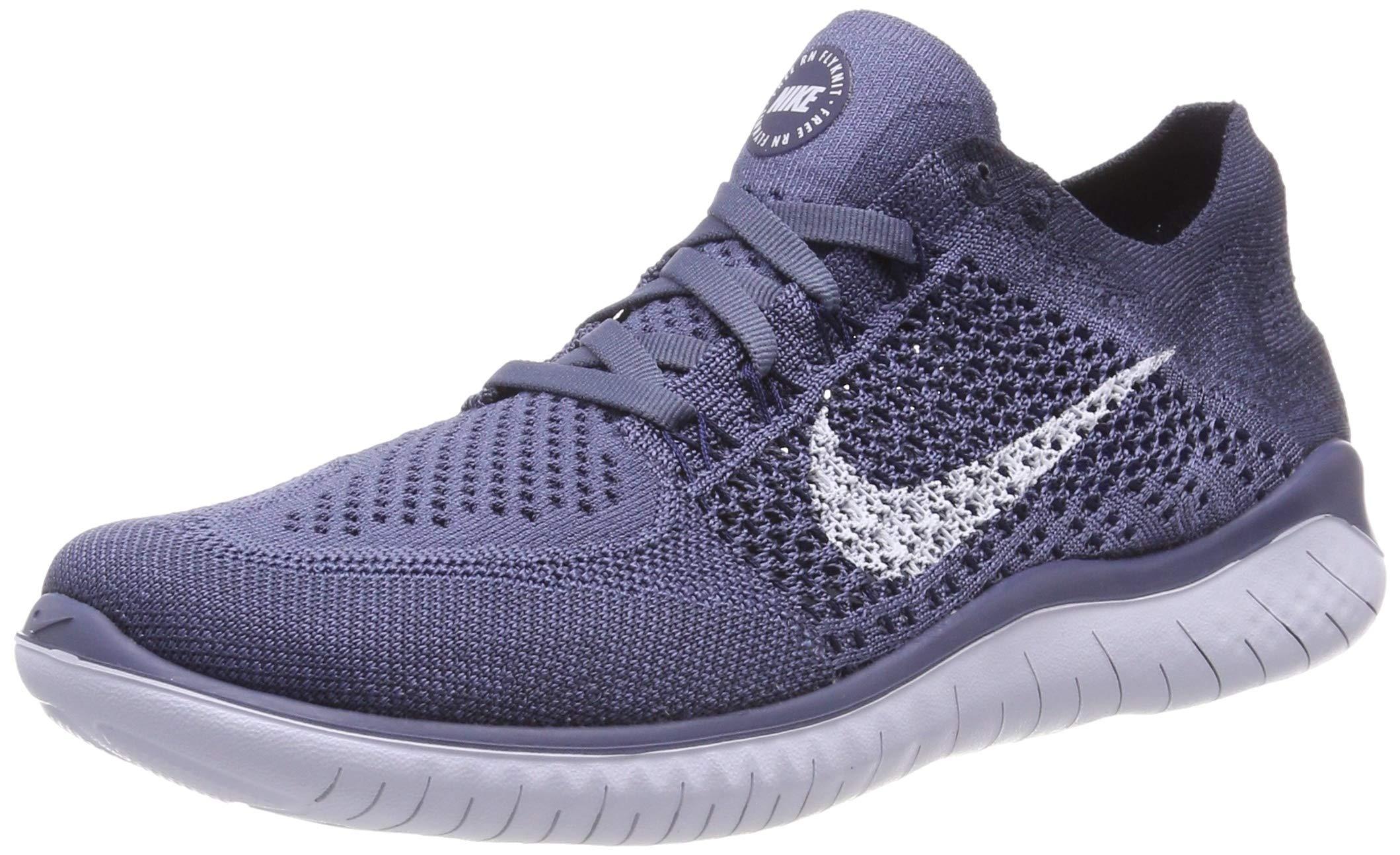 de4b167a855ee Galleon - Nike Free RN Flyknit 2018 Men s Running Shoe DIFFUSED  Blue Football Grey-Thunder Blue 8.0