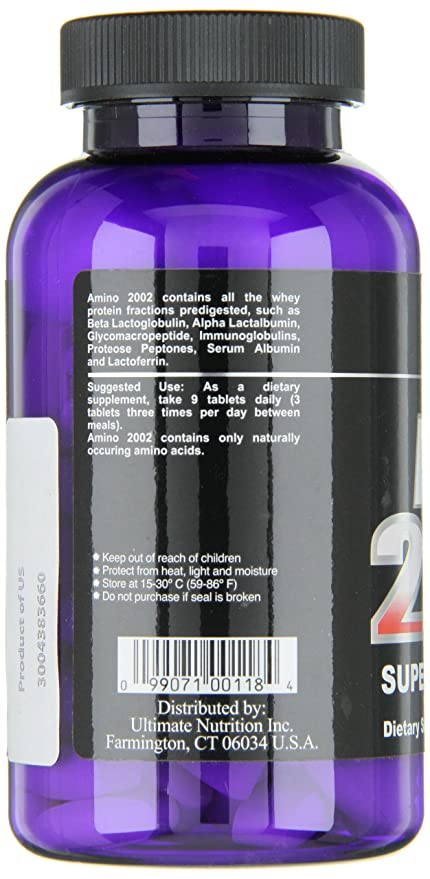 Amazon.com: Ultimate Nutrition Amino 2002 Premium Whey Isolate Formula (100 Tablets): Health & Personal Care