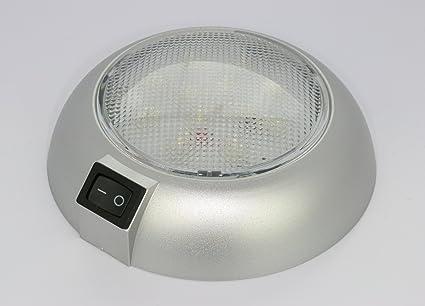 amazon com battery powered led dome light magnetic or fixed mountbattery powered led dome light magnetic or fixed mount high power white led downlight