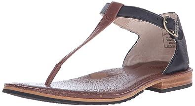Bogs Women's Memphis Thong Leather Sandal, Cinnamon, ...