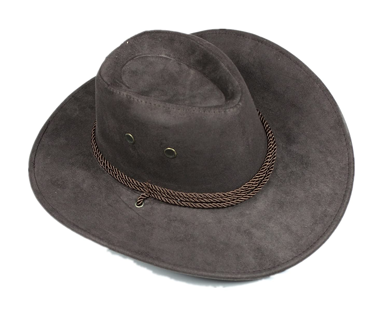 Marrón Cuerda de Western Cowboy Sombrero Unisex disfraz para niño adulto  Halloween TT019 a9625e22f53