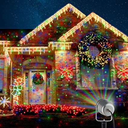 Christmas Laser Lights Outdoor Projector Lights Moving Motion Laser Light Waterpoof Projection Lights