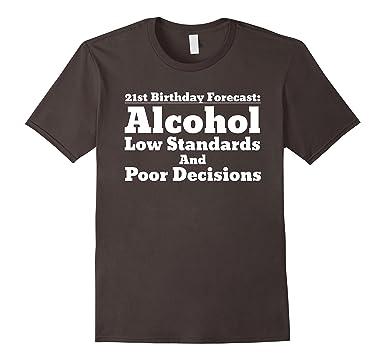 Mens Funny 21st Birthday Shirt For Him