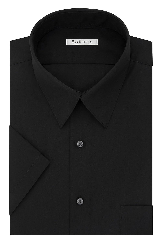 d97e1007d3e937 Van Heusen Men's BIG FIT Short Sleeve Dress Shirts Poplin Solid (Big and  Tall) at Amazon Men's Clothing store: