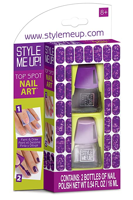Amazon.com: Top Spot Nail Art - Purple - Craft Kit by Aquastone ...