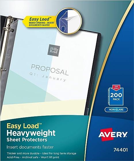 Amazon.com: Avery Folios de poly, anti reflejo de carga ...