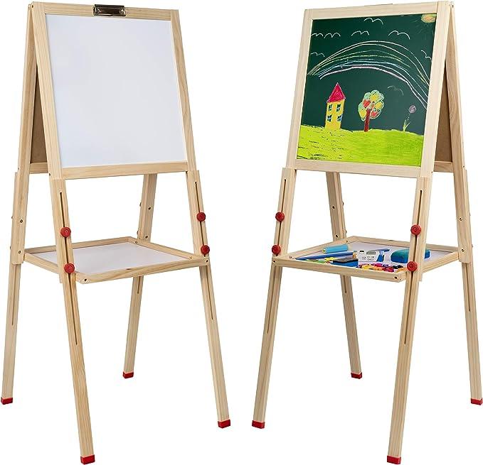 Mia Toys Pizzara Niños con 112 accesorios educativos Pizarra Infantil Caballete Estable con pies Regulables: Amazon.es: Hogar